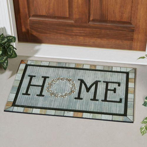 Homestead Wreath Tin Doormat Multi Warm 30 x 18