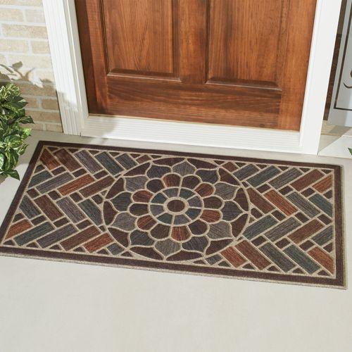 Brick Path Doormat Multi Warm 48 x 24