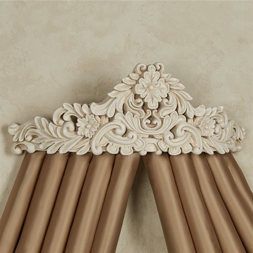 Viviana Wall Teester Bed Crown Antique Ivory