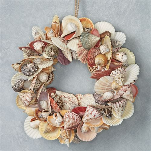 Shell Coastal Wreath Multi Pastel