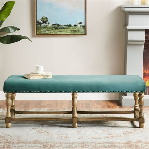 Searles Upholstered Bench Green