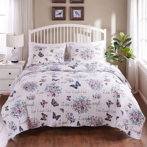 Garden Joy Butterfly Floral Mini Quilt Set Multi Pastel