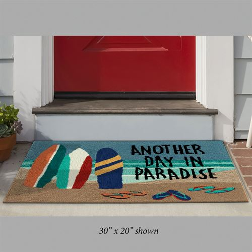 Beach Paradise Rectangle Mat Multi Bright