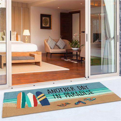 Beach Paradise Rectangle Mat Multi Bright 60 x 24