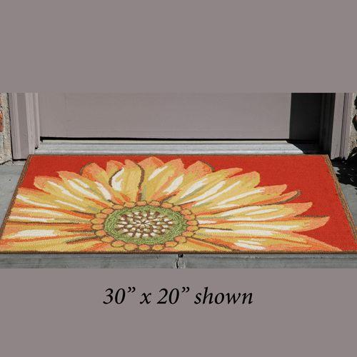 Sunflower Red Rectangle Mat