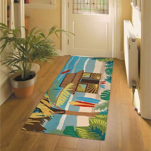 Tiki Hut Rectangle Mat Multi Bright