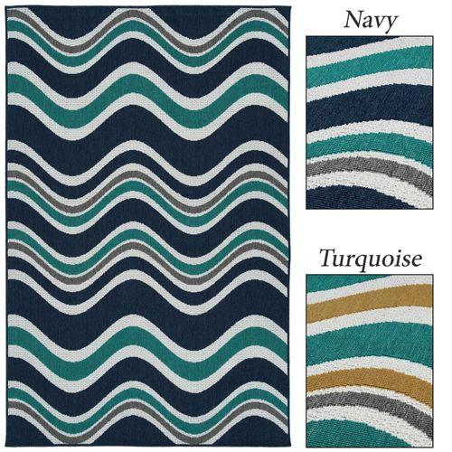 Hawea Waves Rectangle Rug