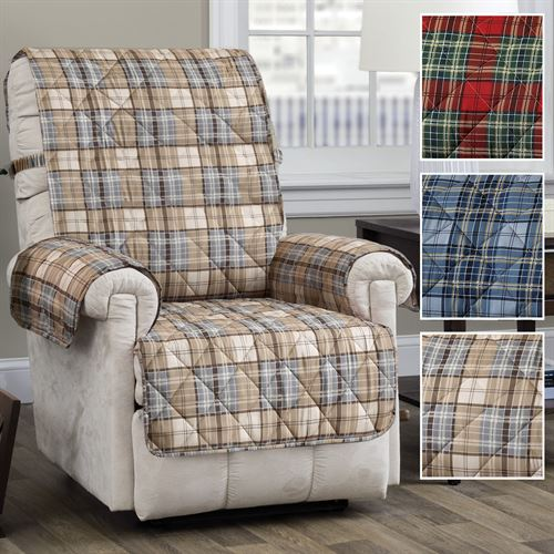 Burnett Plaid Furniture Protector Recliner/Wing Chair