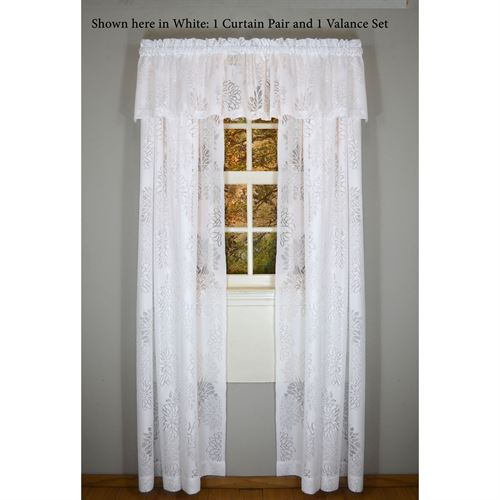 Chrysanthemum Lace Window Treatment Set