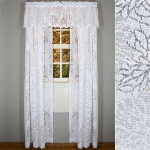 Chrysanthemum Lace Window Treatment Set