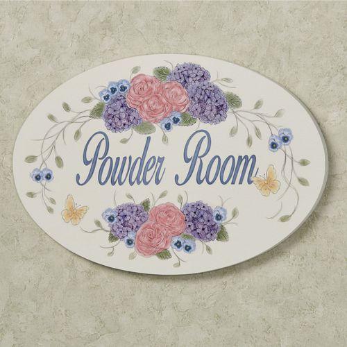 Elizabella Powder Room Wall Plaque Multi Pastel
