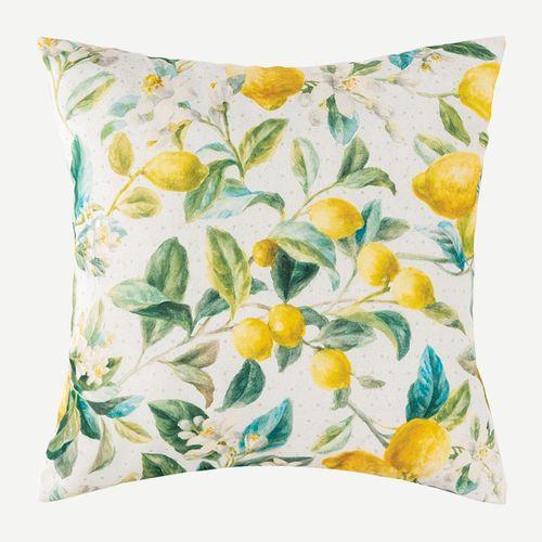 Lemon Grove Decorative Pillow Yellow 18 Square