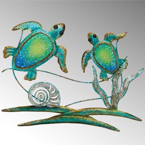Sea Turtle Duo Wall Art Multi Cool