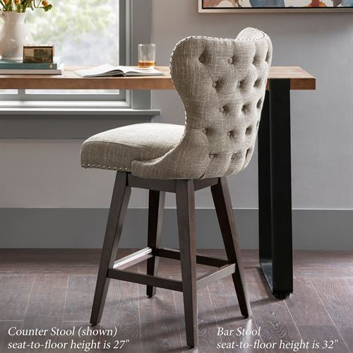 Hancock Upholstered Counter Stool Latte