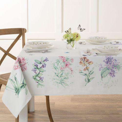 Butterfly Meadow Garden Oblong Tablecloth Multi Pastel