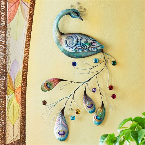 Austin Peacock Wall Art Multi Jewel