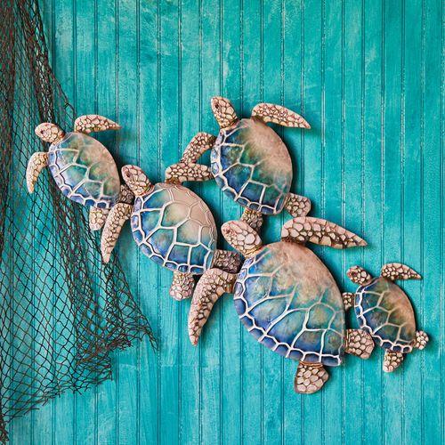 Swim the Great Sea Turtle Wall Art Multi Cool