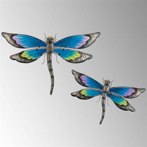 Dragonfly Dance Wall Art Blue Set of Two