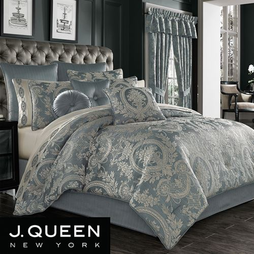 Nicolette Comforter Set Blue