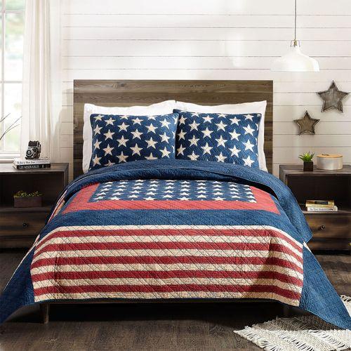 Americana Mini Quilt Set Dark Blue