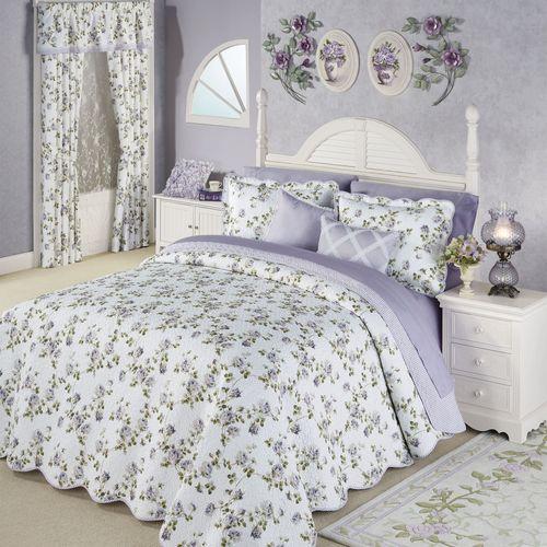 Rosalyn Grande Bedspread Set Wisteria