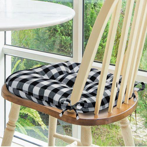 Buffalo Check Chair Pad Cushions Set of Two