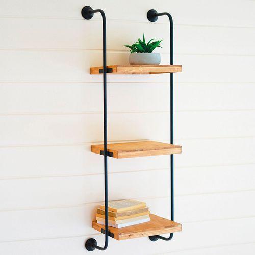 Bastien Ladder Wall Shelf Natural