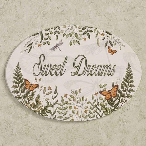 Butterfly Eden Sweet Dreams Wall Plaque Green