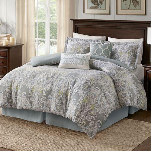 Hallie Comforter Bed Set Dark Gray