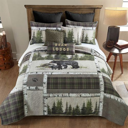 Bear Panels Mini Quilt Set Multi Warm