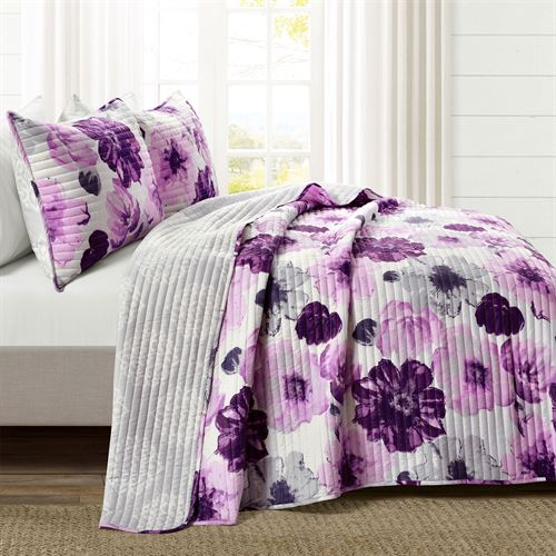 Mia Mini Quilt Set Purple