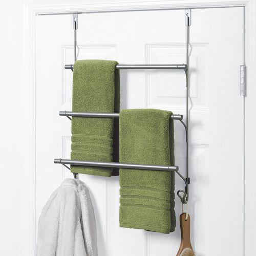 Over the Door Towel Bar Satin Nickel