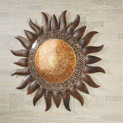 Mystic Sun Wall Sculpture Multi Earth