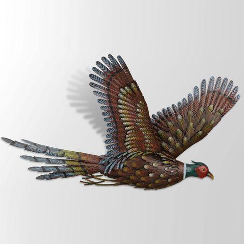 Pheasant Flight Wall Art Multi Earth