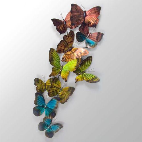Winged Wonders Butterfly Wall Sculpture Multi Jewel