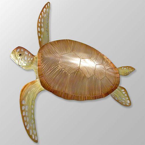 Sea Turtle Wall Sculpture Champagne Bronze
