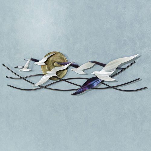 Winged Surfers Wall Sculpture Multi Metallic