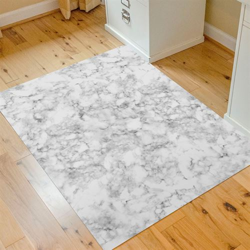 Marble Design 9to5 Desk Chair Mat White