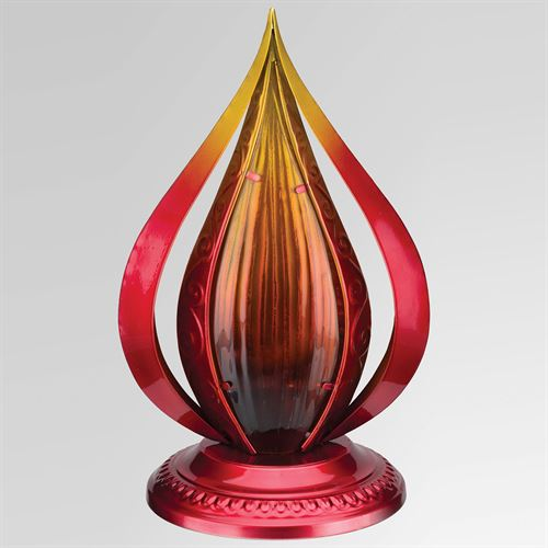 Blaze LED Table Lantern Red