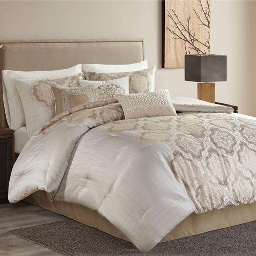 Martina Comforter Bed Set Platinum