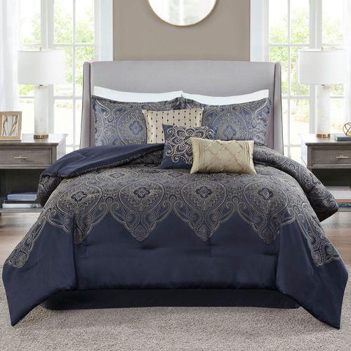 Tristen Comforter Bed Set Navy