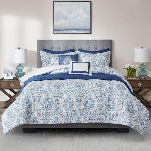 Augustus Comforter Bed Set Blue
