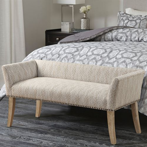 Welburn II Upholstered Accent Bench Taupe