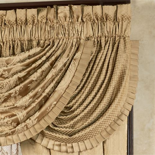 Corsica Diamond Waterfall Valance Gold 42 x 33