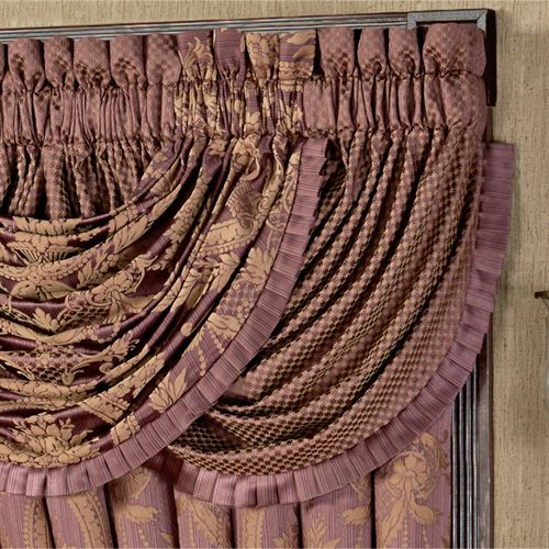 Josephine Diamond Waterfall Valance Maroon 42 x 33