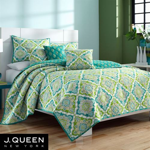 Zoie Coverlet Set Turquoise