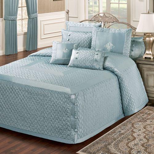 Silk Allure Grande Bedspread Sterling Blue
