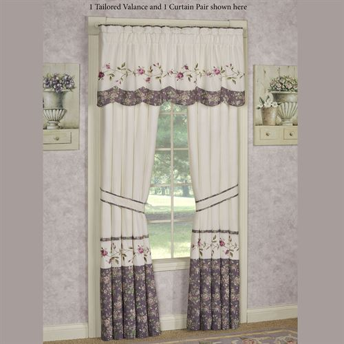 Ambrosia Tailored Valance Violet 60 x 18