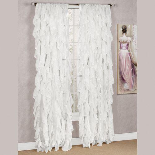Cascade Sheer Voile Curtain Panel