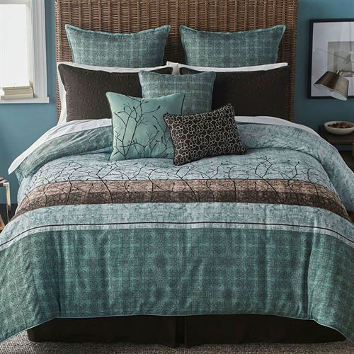Wildwood Comforter Bed Set Teal